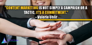Content Marketing is not simply a campaign or a tactic, it's a commitment